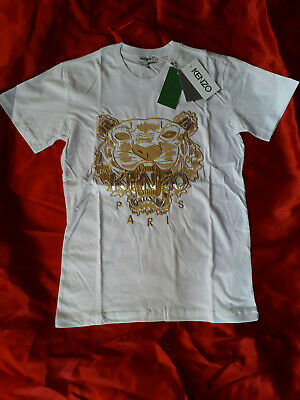 Kenzo Men T-shirt  New With Tags Short Sleeve Color White