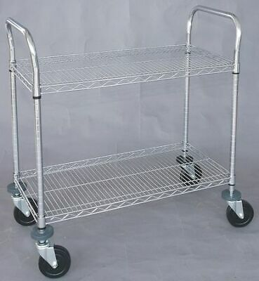 ZORO SELECT 1ECJ3 Wire High Cart,Heavy Duty,18x48x39 In
