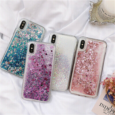 Phone Case Sparkle Liquid Flowing Bling Quicksand Cover For iPhone XS Max