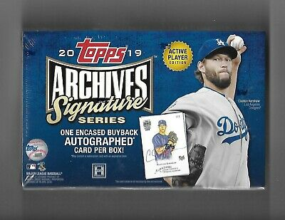 2019 Topps Archives Signature Series Active Players Sealed Hobby Box