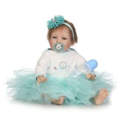 22inch55cm  Reborn Baby Dolls Cute Newborn Doll Lifelike Bebe Toddler