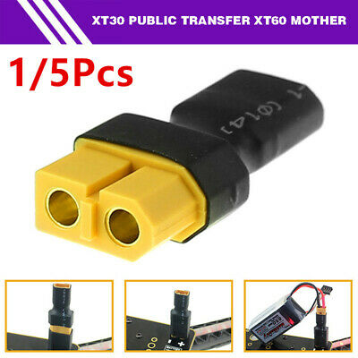 1/5Pcs XT30 Male to XT60 Female Connector Adapter Converter Plug for RC Models