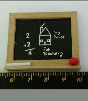 1:12th Miniature Doll House Accessories 1 Mini Black Board