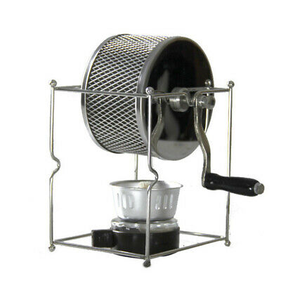 Stainless Steel Coffee Roaster Manual Hand-Operated Rotary Gas Alcohol Stove A04