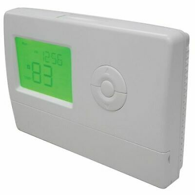 DAYTON 6EDZ8 Thermostat, 7 Day Programmable, Stages 2 Heat/2 Cool, White