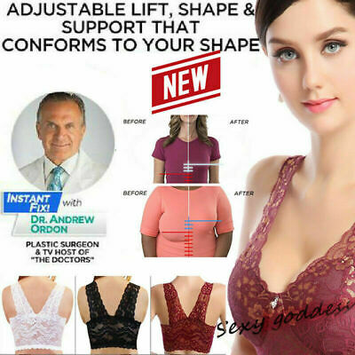 Extra Elastic COMFORT AIRE BRA Air Permeable Lace Bra Seamless Padded Light V3F2
