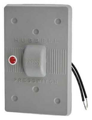 HUBBELL WIRING DEVICE-KELLEMS HBL1785 Weatherproof Wall Plate,1 Gang,Gray