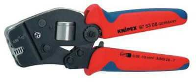 KNIPEX 97 53 08 28-7 AWG Self-Adjusting Crimping Pliers, Front Loading,