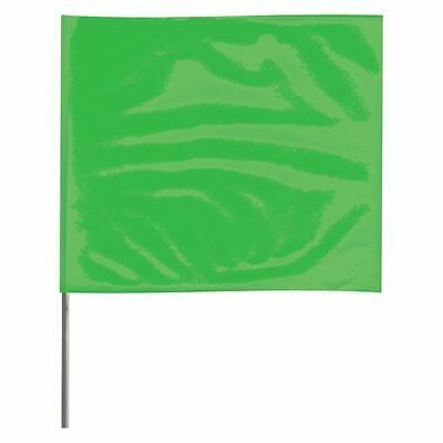 ZORO SELECT 4530GG-200 Marking Flag,Fluor Green,Vinyl,PK100