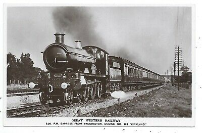 "GREAT WESTERN RAILWAY - GWR no.178 'KIRKLAND"" on EXPRESS Real Photo Postcard"