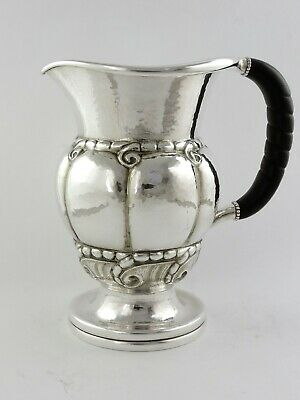 MAGNIFICENT Large GEORG JENSEN STERLING SILVER PITCHER or EWER 1100ml 1036g
