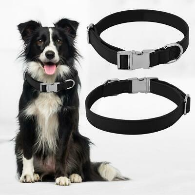 Personalized Pet Dog Artificial Leather Puppy ID Collar Name Engraved Neck Strap