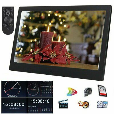 HD TFT LCD 10.1'' Digital Photos Frame LED Picture Video Player Remote + 8 GB SD