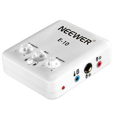 Neewer External USB Sound Card with Free Drive Design for Singing, White