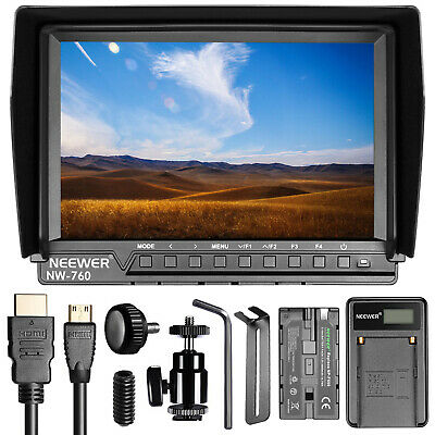 Neewer NW-760 4K 7 Inches Full HD Screen Camera Field Monitor Kit f Canon Nikon