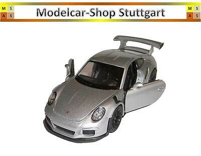 Porsche 911 GT3 RS silber - Pullback - Welly 1:38 - MAP01027217- Museum Edition