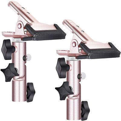 Neewer 2pcs Purple Max 5cm Open Metal Spring Clamp Holder with 5/8 inches Stud