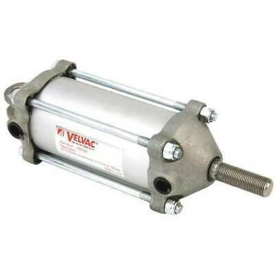 """VELVAC 100122 2-1/2"""" Bore Double Acting Air Cylinder 4"""" Stroke"""