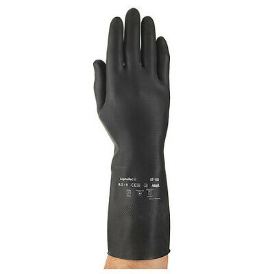 "Natural Rubber Latex 24/""L 8-1//2 ANSELL 87-108 Chemical Resistant Gloves"