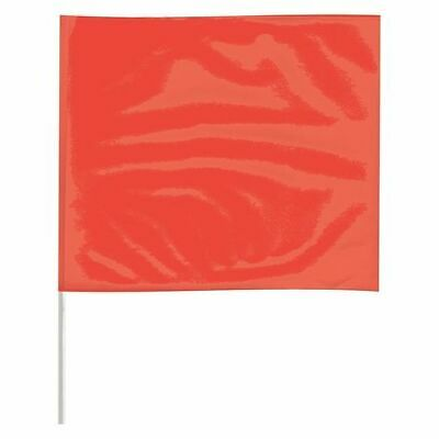 ZORO SELECT P4518RG-200 Marking Flag,Fluor Red,Blank,Vinyl,PK100