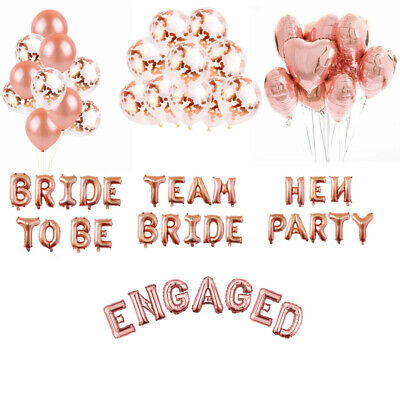 Team Bride/Engaged/Bride To Be/Hen Party/Foil Latex Letter Helium Balloon Decor