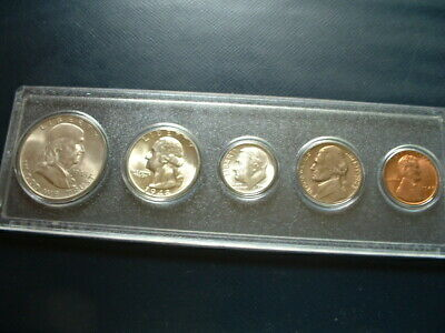 1948 Philadelphia US 90% Silver, Nickel, Copper Uncirculated 5-Coin Set Business