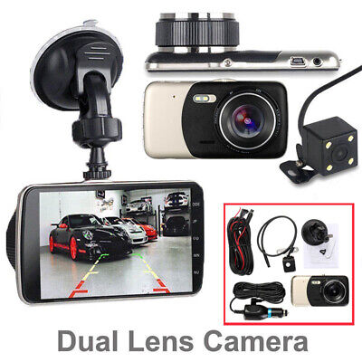 UK Car HD Dual Lens 1080P DVR Dash Cam Front and Rear View Reverse Backup Camera