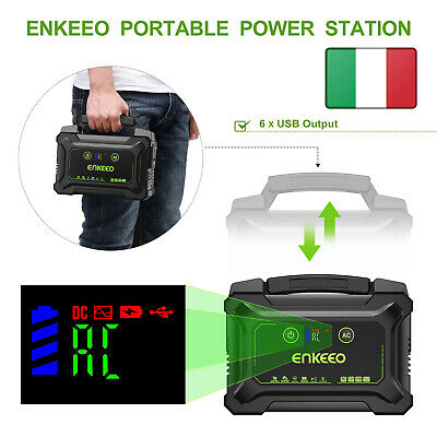 ENKEEO 222Wh 60000mAh Caricabatterie Cellulare Generatore Ricaricabile Emergenza