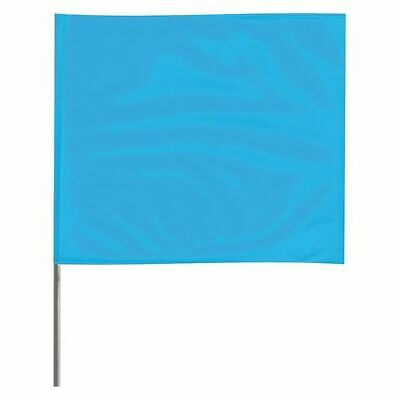 ZORO SELECT 4536BG-200 Marking Flag,Fluor Blue,Vinyl,PK100