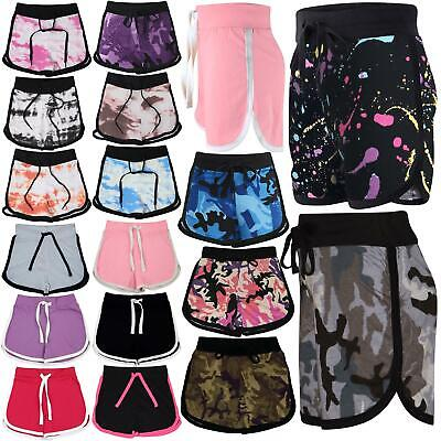 Kids Girls Shorts 100% Cotton Dance Gym Sports Summer Hot Short Pants 2-13 Years