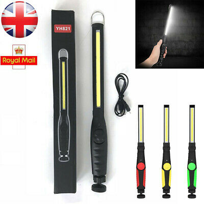 COB LED Rechargeable Light Mechanic Work Shop Inspection Lamp Hand Torch UK