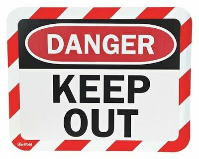 TARIFOLD P194943KP Sign Holder,Magnetic,Keep Out,PK2