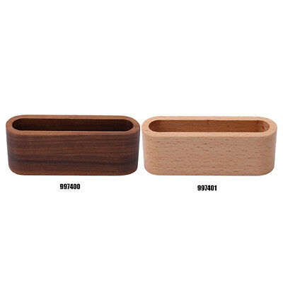 Wooden Landscape Office Desk Business Card Holder Organiser Display Stand LC