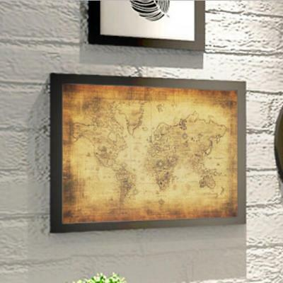 Large Map Globe World Atlas Antique Wall Art Multi Panel Poster Print LC