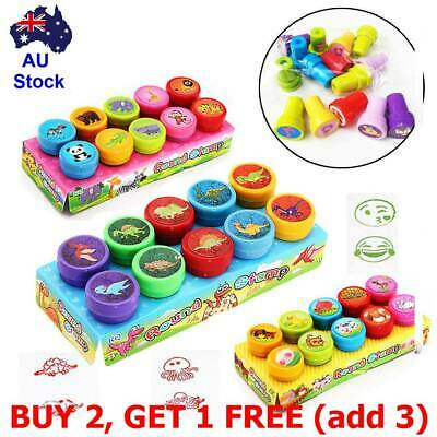 10Pc/Set Self-ink Rubber Stamps Kids Party Event Supplies Birthday Gifts Boy Toy