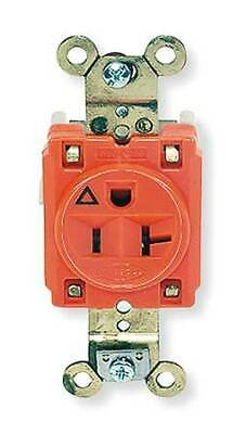 HUBBELL WIRING DEVICE-KELLEMS IG5361 20A Single Receptacle 125VAC 5-20R OR