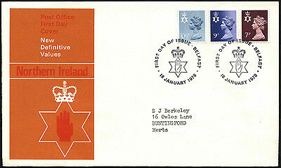 GB FDC 1978 Northern Ireland Regionals Definitives First Day Cover #C41798
