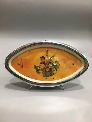 Chinese During Cultural Revolution Mechanical clock table Home decoration A