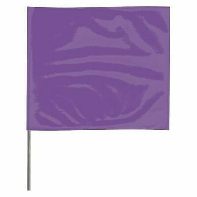 ZORO SELECT 4518PP-200 Marking Flag,Purple,Blank,Vinyl,PK100