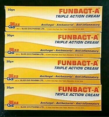Original FUNBACT A (Pack of 4 pcs)Cream for Acne, pimples & Spots