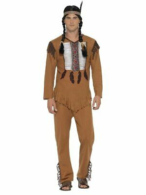 Smiffys Native American Indian Warrior Chief Adult Mens Halloween Costume 45509
