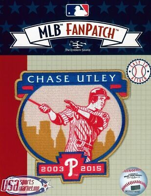 Chase Utley 2019 Philadelphia Phillies Retirement Official MLB Logo Jersey Patch