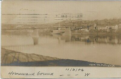 From West Pittston PA RPPC Real Photo W J Harris used in 1906 Luzerne County