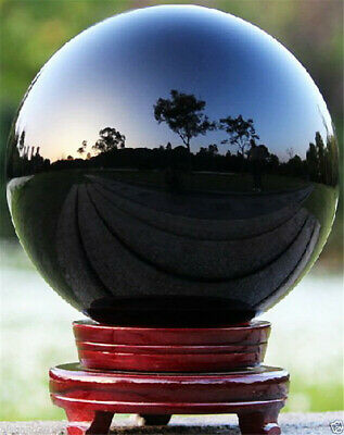 HOT Sell NATURAL OBSIDIAN POLISHED BLACK CRYSTAL SPHERE BALL 60mm +Stand NEW