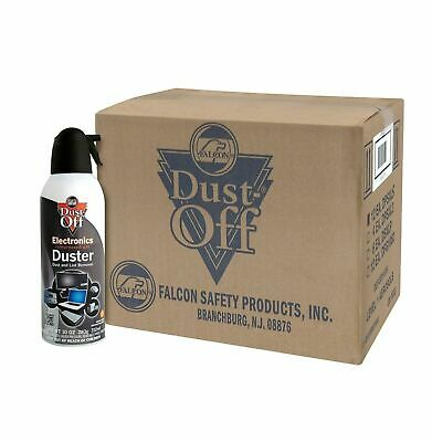 Falcon Dust-Off Disposable Compressed Gas Duster, 10 oz Cans, 8 Pack,.