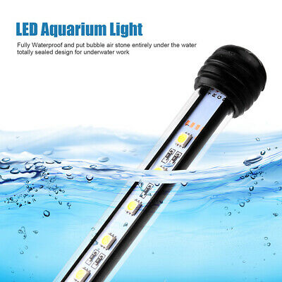 5050SMD 24 LED Luminoso Blu Acquario Striscia Luci LED Impermeabile 48cm