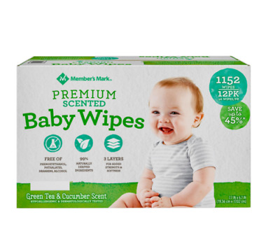 Member's Mark Premium Scented Baby Wipes 1152 ct. FREE SHIPPING