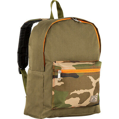 Everest Basic Color Block Backpack 3 Colors Everyday Backpack NEW