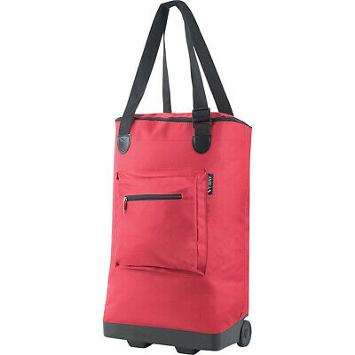 Amka Everyday Rolling Shopping Tote - Red All-Purpose Tote NEW