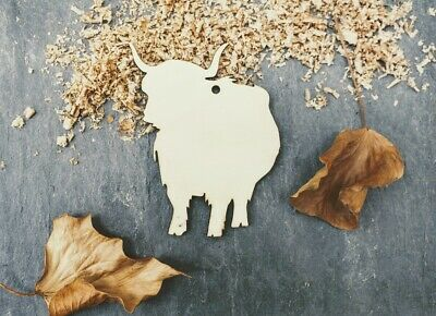 Clear Acrylic Highland Cow Shapes x 10 3mm Acrylic Perspex Range of Sizes